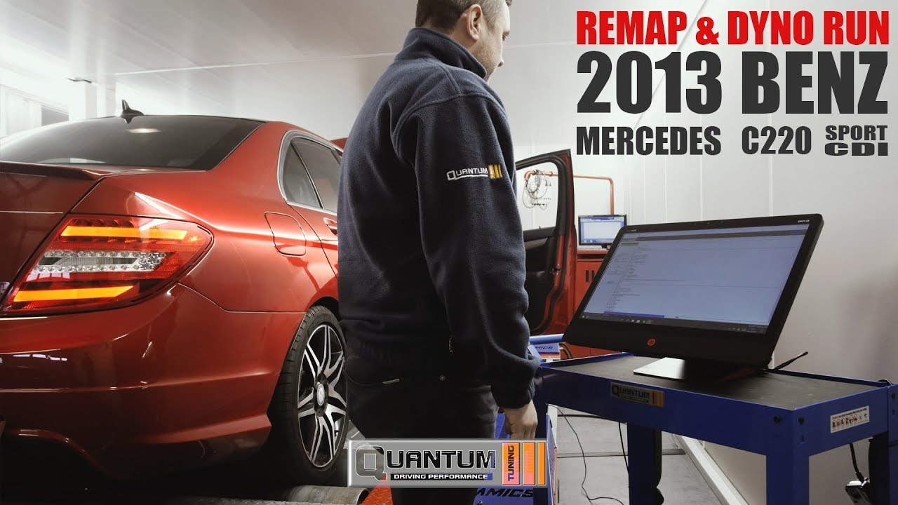 2012 Mercedes Benz C220 Sport CDI Remap (Dyno Run)