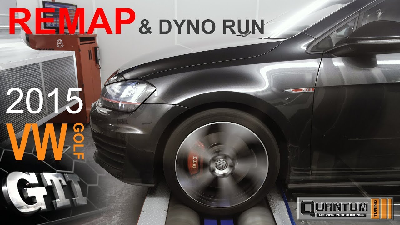 2015 VW GOLF GTI Remap (Dyno Run)