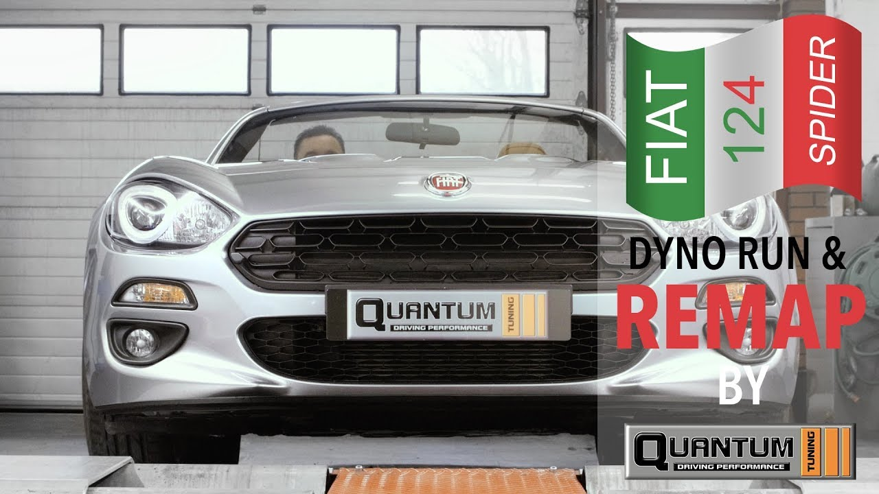 Fiat 124 Spider Dyno run & Remap